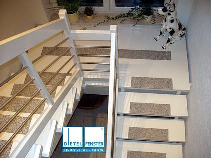 Treppe Buche Weiß